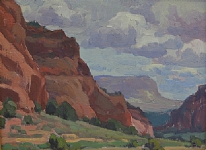 Stormy Day, Johnson Canyon, UT by Glenn Dean Oil ~ 12 x 16