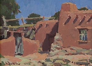 Golondrinas Sketch by Glenn Dean Oil ~ 9 x 12