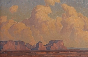 Mesa and Clouds by Glenn Dean Oil ~ 24 x 36
