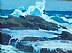 Crashing Wave by Glenn Dean Oil ~ 9 x 12