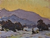 Winter Motif by Glenn Dean Oil ~ 6 x 8