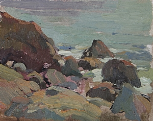 Sea Stones by Glenn Dean Oil ~ 6 x 8