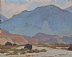 Valley Wash by Glenn Dean gouache (opaque watercolor) ~ 4 x 5