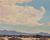 Desert Skies by Glenn Dean gouache (opaque watercolor) ~ 4 x 5