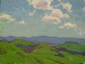 The Green Season by Glenn Dean Oil ~ 6 x 8