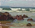 Tidepool by Glenn Dean Oil ~ 8 x 10