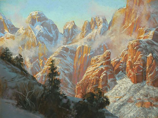 First Snow, Zion - Pastel