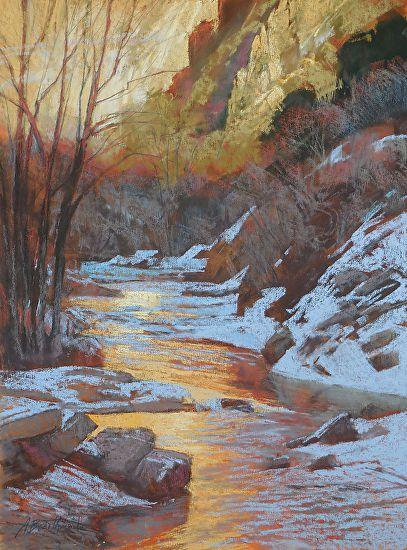 Winter, Coal Creek - Pastel