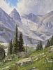 Approach to Lake Isabelle by Stacey Peterson Oil ~ 24 x 18