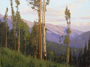 Last Light on the Pass by Stacey Peterson Oil ~ 18 x 24