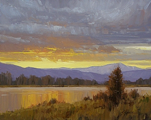 Evening Color by Stacey Peterson Oil ~ 11 x 14