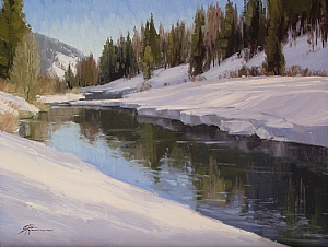Willow Creek Reflections by Stacey Peterson Oil ~ 12 x 16