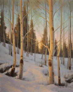 Snowbound by Stacey Peterson Oil ~ 30 x 24