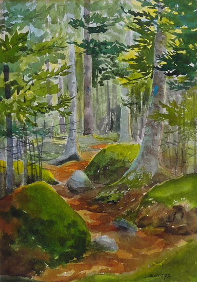 Lost Pond Trail - Watercolor