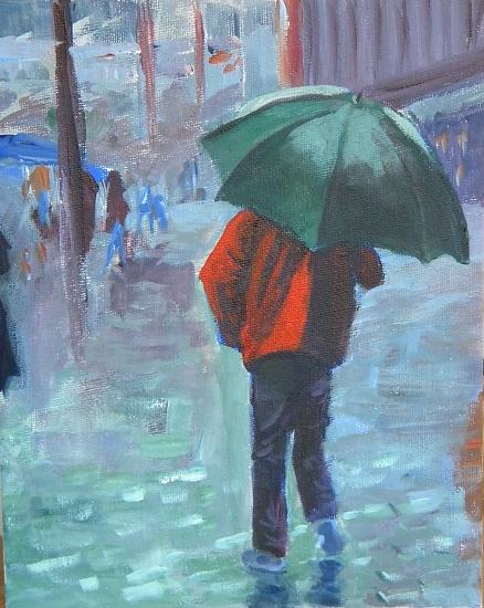 Green Umbrella - Acrylic