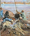 after sargent; raising water from the nile by Garland Fulghum Oil ~ 24 x 20