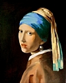 After VerMeer- The Pearl Earring 1665 by Garland Fulghum Oil ~ 20 x 16