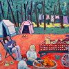 ''PENINSULA CAMPSITE'' OIL PAINTING BY SUSAN HALE 24X30unframed 30''x36''framed $1,200 SOLD EO 09