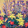 ''JULY GARDEN'' OIL PAINTNG BY SUSAN HALE 16X20unframed 22''x26''framed $975