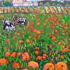 There are Cows in the Pumpkin Field