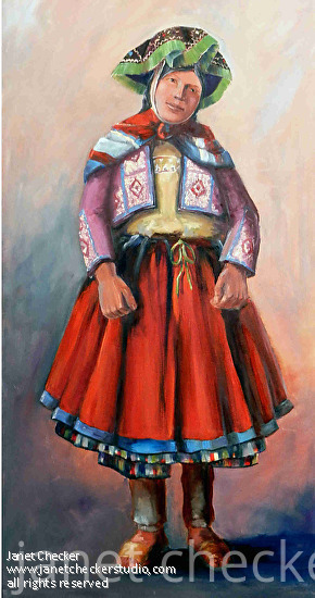 Lady from Peru - Oil