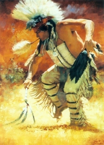Pow Wow Dancer - Oil