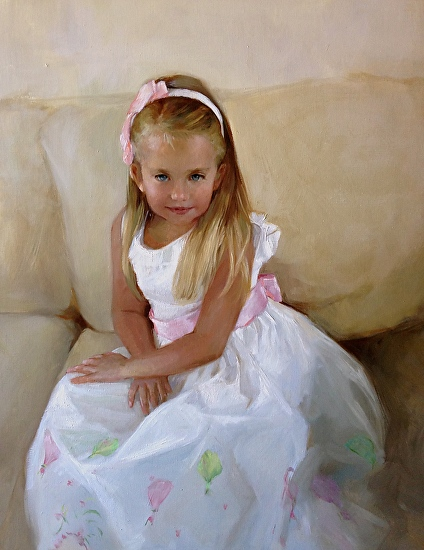 Portrait of Lillian - Oil