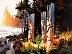 SUNDOWN NINSTINTS HAIDA GWAII NORTH COAST OF B.C. CANADA by Michael O'Toole