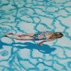 girlswimmer4artisphere by Garland Mattox Oil ~ 12 x 12