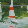 "sailboats by Garland Mattox Oil ~ 36"" x 48"""