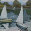 "Sailboat study 1 by Garland Mattox Oil ~ 18"" x 24"""
