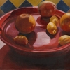 "Still life with grapefruit by Garland Mattox Oil ~ 20"" x 24"""