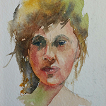 Yvonne Ham - Online Zoom Portraits in Watercolor January 16, 2021
