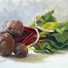 Red Beets in a Bundle