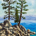 Piper Monika Johnson - Tahoe Pines in Oil with a Palette Knife