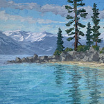 Monika Johnson - Painting Lake Tahoe in Oil with a Palette Knife on Zoom