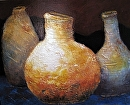 "Jars of Clay IV by Lorraine Duncan Acrylic ~ 16"" x 20"""