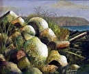 "Autumn Rocks by Lorraine Duncan Acrylic ~ 8"" x 10"""