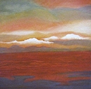 "Dividing the Sea and Sky by Lorraine Duncan Acrylic ~ 24"" x 24"""