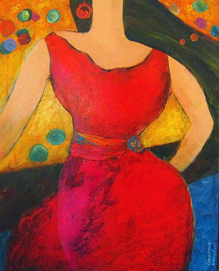 "Gracie's Birthday II by Lorraine Duncan Acrylic ~ 20"" x 16"""