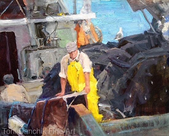 Fishing Boat, San Pedro Harbor - Oil