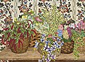Wicker Baskets by John Powell Serigraph on Paper ~ 32 x 24