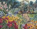 Cobblestone Arbor by John Powell Serigraph on Paper ~ 24 x 30