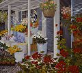 Country Flowers by John Powell Serigraph on Paper ~ 18 x 20