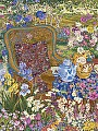 Garden Party by John Powell Serigraph on Paper ~ 33 x 25