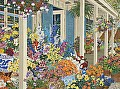 Jolain's Flowers by John Powell Serigraph on Paper ~ 25 x 33