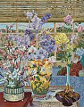 Lily Vase by John Powell Serigraph on Paper ~ 30 x 24