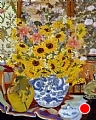 Autumn Vase by John Powell Oil ~ 30 x 24