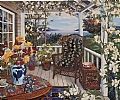 Veranda View by John Powell Poster ~ 27 x 32
