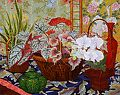 Begonia Baskets by John Powell Oil ~ 24 x 30